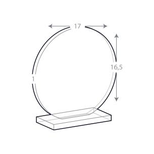 Trophée Rond verre gravé ou couleur avec socle pour  Vous souhaitez...