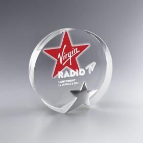 Trophée Star rond verre...