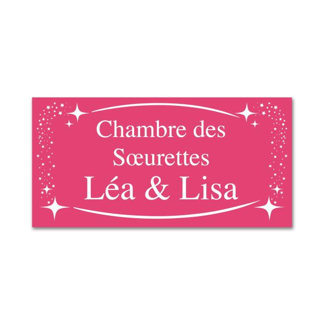 Plaque de Chambre Rose pour  La plaque de chambre rose est une idée...