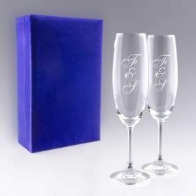"""Coffret Flûtes à Champagne """"Initiales"""""""