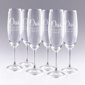 6 Flûtes à Champagne OUI
