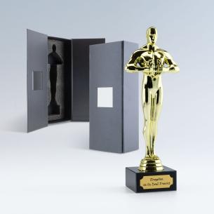 Trophée Statuette Vainqueur Personnalisable avec Coffret Cadeau