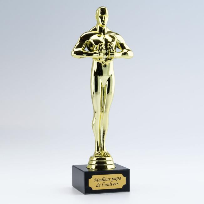 Trophée Statuette Vainqueur Personnalisable