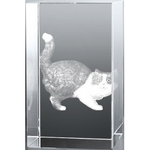 Bloc Vertical 3D Chat, Offrez à vos prochespassionnés par les chat...