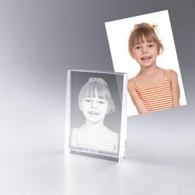 Bloc verre avec photo portrait