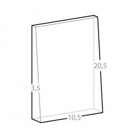 dimensions bloc trapèze en verre