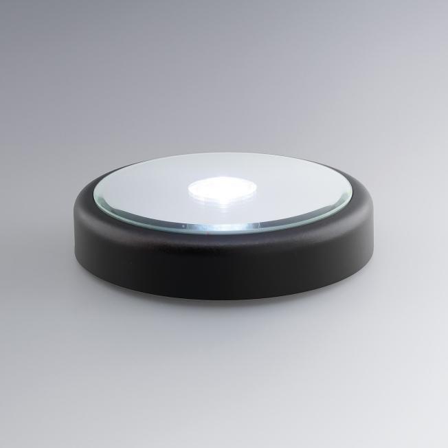 Base lumineuse ronde pour bloc verre