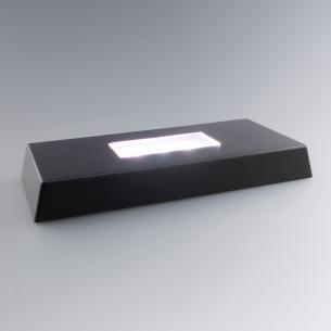 base lumineuse rectangle pour bloc verre personnalisé