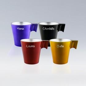 Set de 4 tasses expresso personnalisées