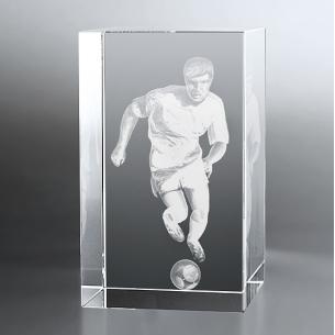 Bloc Vertical 3D Footballeur pour  Réalisez le cadeau personnel qui...