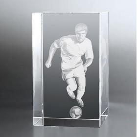 Bloc Vertical 3D Footballeur