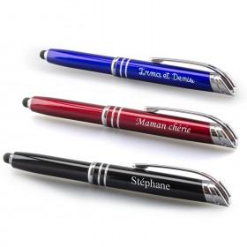 stylos tactiles personnalisés - coloris rouge, bleu, noir
