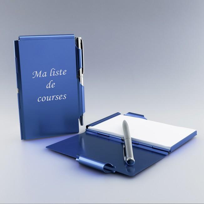 Bloc-notes bleu personnalisé