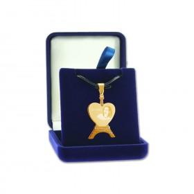 Pendentif coeur personnalisé texte et photo dans boite cadeau