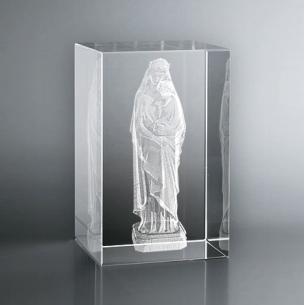 Bloc Vertical 3D Vierge à l'Enfant - Cadeau personnalisé Zephyr
