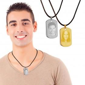bijou homme personnalisé avec photo et texte