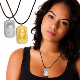 bijoux femme gravé avec photo et texte