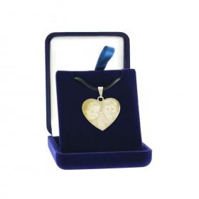 cadeau coeur métal personnalise avec photo et texte dans ecrin cadeau