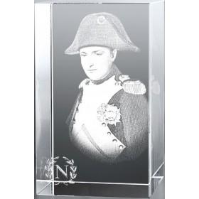 Bloc en verre gravure 3D Napoléon