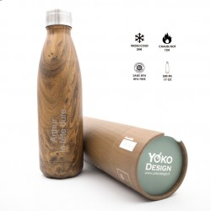 Bouteille Isotherme Bois Personnalisable pour  Cette bouteille isot...
