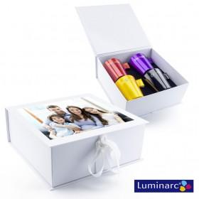 Photo couleur sur coffret cadeau de 4 mugs