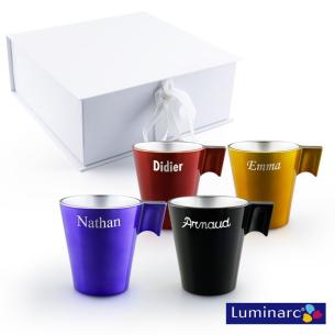 Coffret de 4 mugs personnalisés