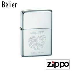 Briquet Zippo Astrologie Personnalisable Texte et Photo - Belier