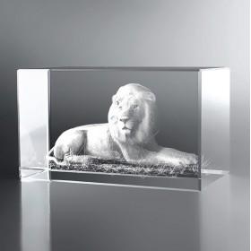 Bloc Horizontal 3D Lion
