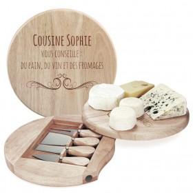 Plateau à fromage personnalisé avec le texte de votre choix