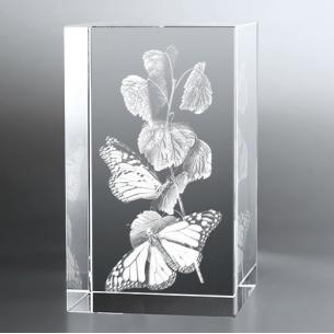 Bloc Vertical 3D Papillon, Pour une occasion particulière ou pour l...