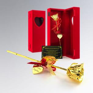 Roses véritables recouvertes d'or ou d'argent personnalisées