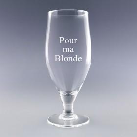 Verre à bière personnalisé avec le texte de votre choix