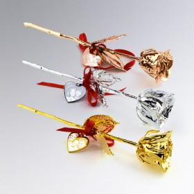 roses en Or ou Argent personnalisées avec la photo de votre choix