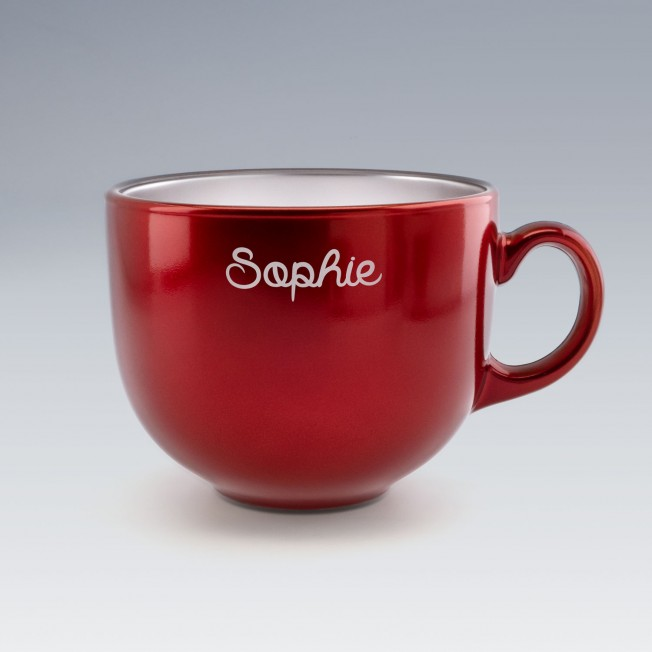 Grande tasse Jumbo rouge Luminarc en verre à personnaliser