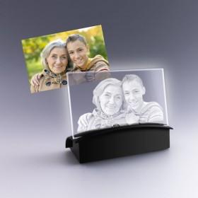 cadeau plaque photo gravée dans verre optique