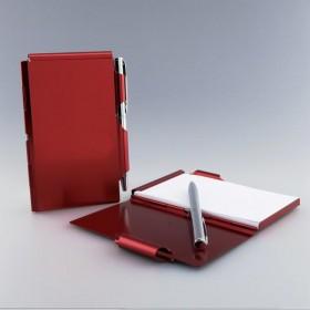 Bloc Notes Métal rouge avec...