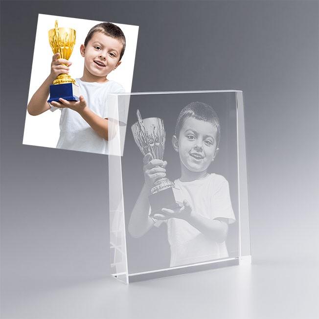 Trophée trapèze personnalisé avec la photo de votre choix