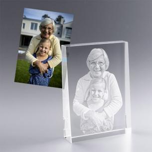bloc en verre personnalisé avec photo