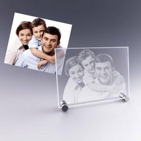cadeau photo : plaque en verre personnalisée