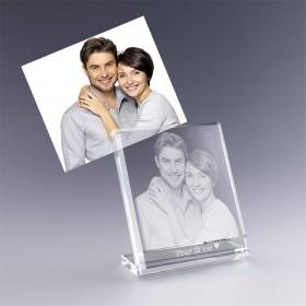 plaque photo en verre - cadeau amoureux