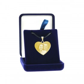 boîte cadeau pendentif coeur métal