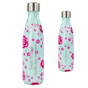 Bouteille Isotherme Cherry blossom gravée avec votre texte
