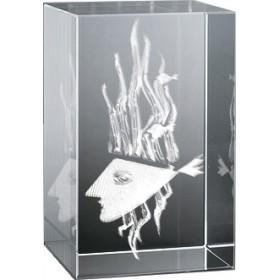 Bloc en verre gravure 3D Hébé, Braque