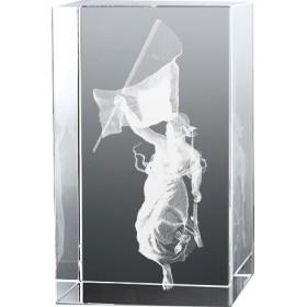 Bloc en verre gravure 3D La Liberté Guidant le Peuple, Delacroix