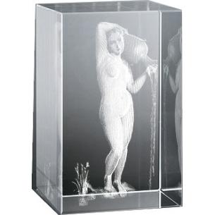 Bloc en verre gravure 3D La Source, Ingres