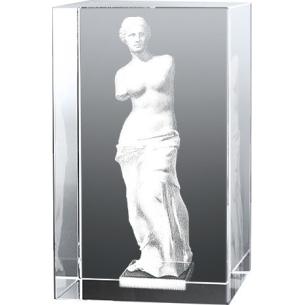 Bloc en verre gravure 3D La Vénus de Milo