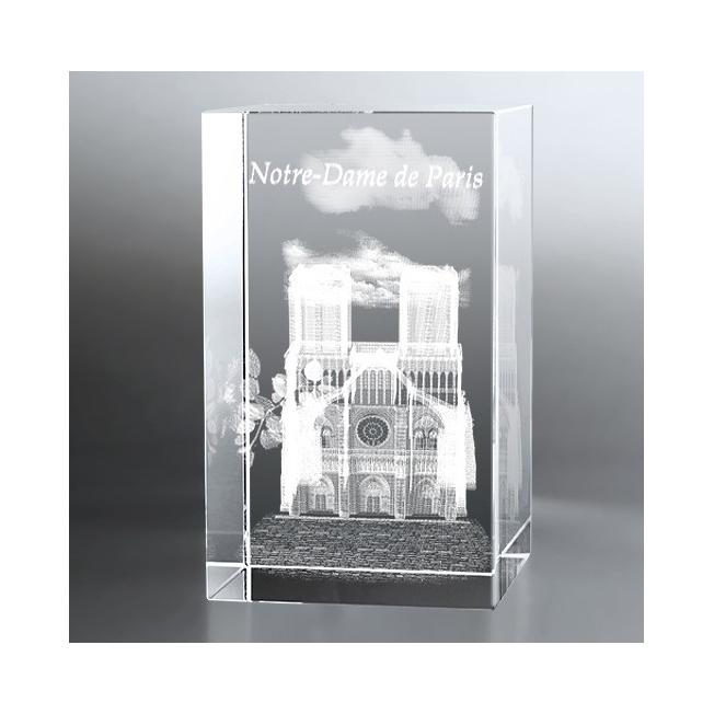 Bloc Vertical 3D Notre Dame de Paris, Cadeau précieux et moderne, p...