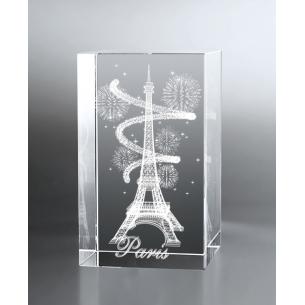 Bloc Vertical 3D Tour Eiffel Spirale