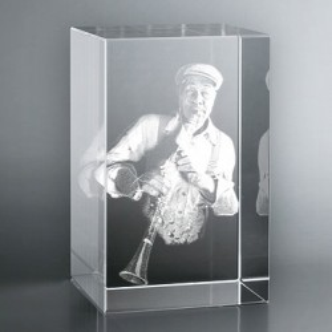 Bloc Vertical 3D Clarinettiste pour  Le cadeau idéal pour un amateu...