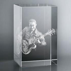 Bloc Vertical 3D Guitariste